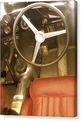 Canvas Print featuring the photograph 1952 Aston Martin Db3 Cockpit by John Colley