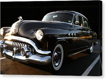 Canvas Print featuring the photograph 1952 Buick In Black by Elizabeth Coats