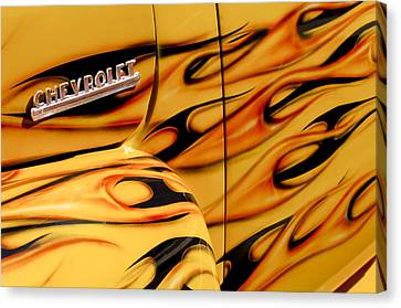1952 Chevrolet Pickup Truck Emblem Canvas Print by Jill Reger