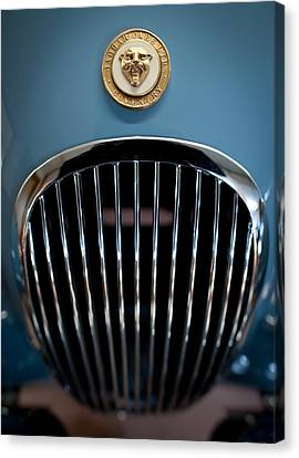 Hood Ornament Canvas Print - 1952 Jaguar Hood Ornament And Grille by Sebastian Musial