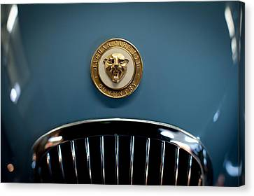 1952 Jaguar Hood Ornament Canvas Print by Sebastian Musial