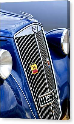 1952 Lancia Ardea 4th Series Berlina Grille Emblems Canvas Print by Jill Reger