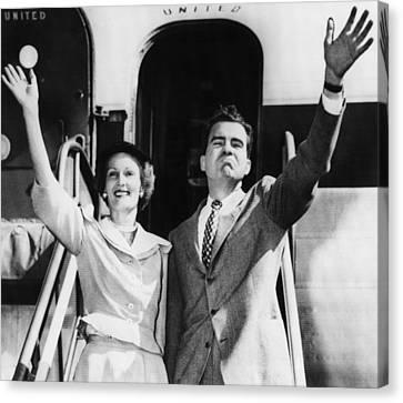 1952 Presidential Campaign.  Patricia Canvas Print by Everett