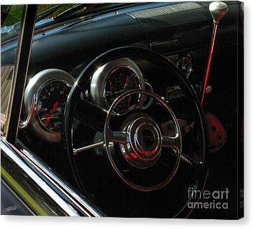 1953 Mercury Monterey Dash Canvas Print by Peter Piatt