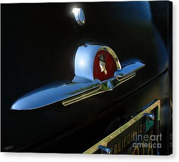 Transportation Canvas Print - 1953 Mercury Monterey Hood Emblem by Peter Piatt