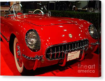 1954 Chevrolet Corvette . Red . 7d9157 Canvas Print by Wingsdomain Art and Photography