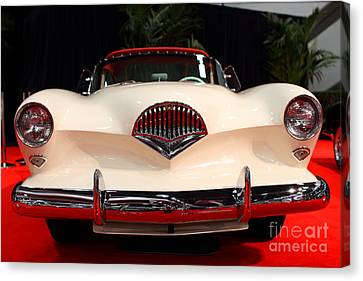 1954 Kaiser Darrin Roadster . 7d9182 Canvas Print by Wingsdomain Art and Photography