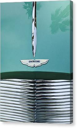 Grill Canvas Print - 1955 Aston Martin Grille Emblem by Jill Reger