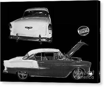 1955 Chevy Bel Air 2 Door Hard Top Canvas Print by Tim Mulina