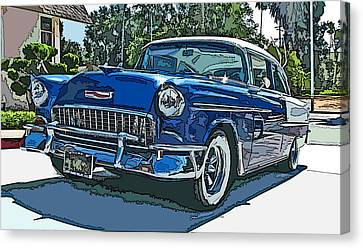 1955 Chevy Bel Air Canvas Print by Samuel Sheats