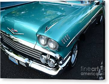 1955 Chevy Belair Front End Canvas Print by Paul Ward