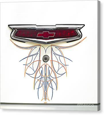 Car Canvas Print - 1955 Chevy Emblem by Susan Candelario