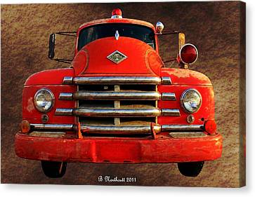 1955 Diamond T Grille - The Cadillac Of Trucks Canvas Print by Betty Northcutt