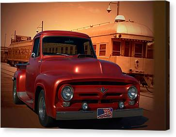 1955 Ford F100 Pickup With 56' Grill Canvas Print
