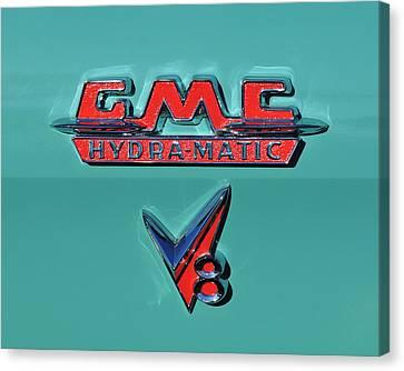 1955 Gmc Suburban Carrier Pickup Truck Emblem Canvas Print by Jill Reger