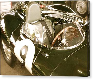 Canvas Print featuring the photograph 1955 Jaguar D Type by John Colley