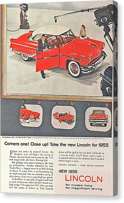 1955 Lincoln Canvas Print