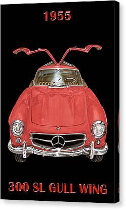 1955 Mercedes Benz 300sl Gull Wing  Canvas Print by Jack Pumphrey
