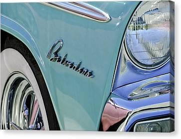 1955 Plymouth Belvedere Emblem Canvas Print by Jill Reger