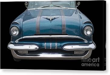 1955 Pontiac Star Chief Front Canvas Print by Betty LaRue