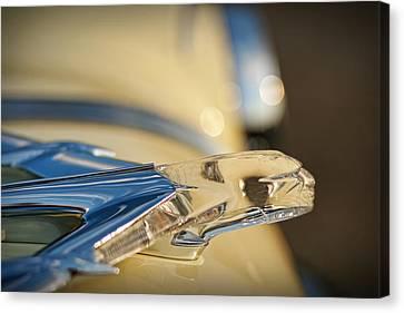 1955 Pontiac Star Chief Hood Ornament  Canvas Print by Gordon Dean II