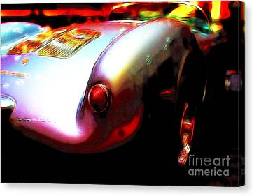 1955 Porsche 550 Rs Spyder . Color Sketch Style Canvas Print by Wingsdomain Art and Photography