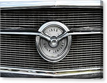 1956 Buick Century Grill Emblem Canvas Print by Paul Ward