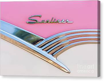 Panel Door Canvas Print - 1956 Ford Fairlane Sunliner by Clarence Holmes