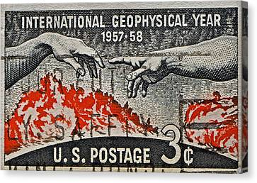 1957-1958 International Geophysical Year Stamp Canvas Print