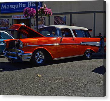 Canvas Print featuring the photograph 1957 Belair Wagon by Tikvah's Hope