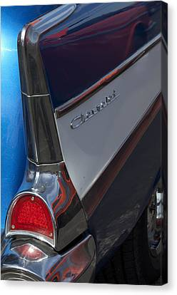 1957 Chevrolet 210 Wagon Taillight Canvas Print by Jill Reger