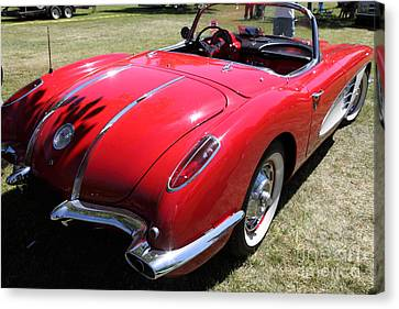 1958 Chevrolet Corvette . 5d16216 Canvas Print by Wingsdomain Art and Photography