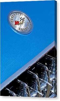 1958 Chevrolet Corvette Grille Emblem 2 Canvas Print by Jill Reger