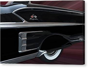 Antique Automobiles Canvas Print - 1958 Impala by Susan Candelario