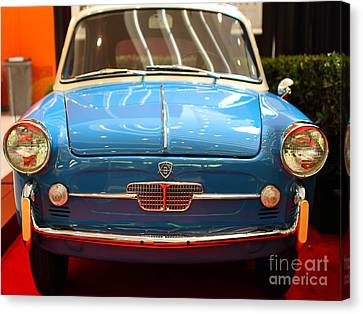 1959 Autobianchi Bianchina Transformabile . Front View Canvas Print by Wingsdomain Art and Photography