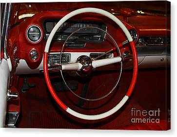 1959 Cadillac Convertible - 7d17387 Canvas Print by Wingsdomain Art and Photography