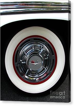 1959 Chevrolet Impala Rim Canvas Print by Peter Piatt