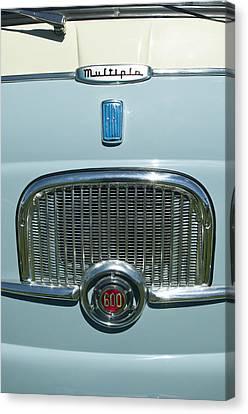 1959 Fiat Multipia Hood Emblem Canvas Print by Jill Reger