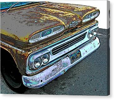 Sheats Canvas Print - 1960 Chevrolet Apache 10 Pickup Truck by Samuel Sheats
