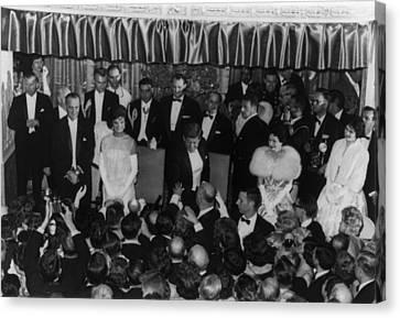 1960 Inaugural Ball. President Kennedy Canvas Print by Everett