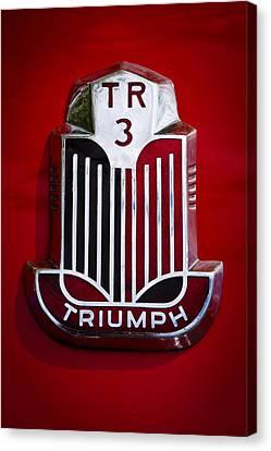 1960 Triumph Tr3a Canvas Print by David Patterson