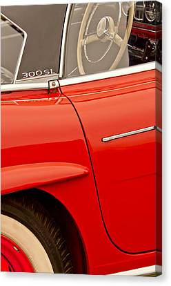 1962 Mercedes-benz 300 Sl Roadster Canvas Print by Jill Reger