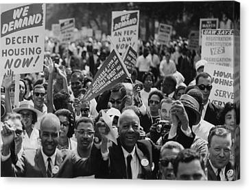 1963 March On Washington. Close-up Canvas Print by Everett