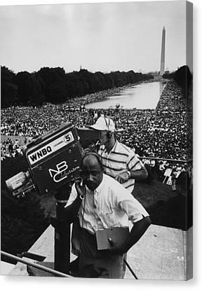 1963 March On Washington. Nbc Canvas Print by Everett