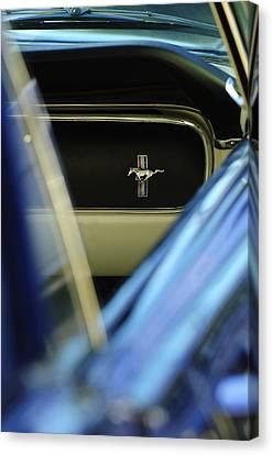 1964 Ford Mustang Emblem Canvas Print by Jill Reger