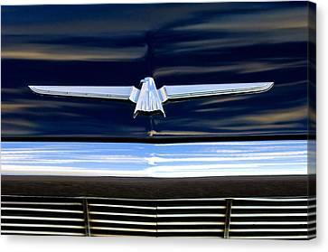 1964 Ford Thunderbird Emblem Canvas Print by Jill Reger