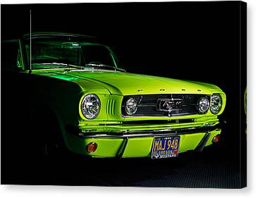 Canvas Print featuring the photograph 1965 Ford Mustang by Jim Boardman