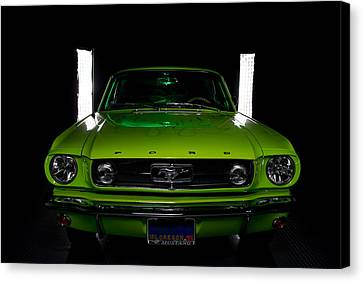 Canvas Print featuring the photograph 1965 Mustang by Jim Boardman