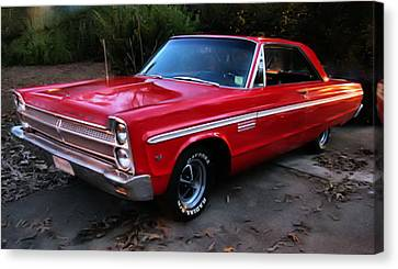 Canvas Print featuring the photograph 1965 Plymouth Fury by Elizabeth Coats