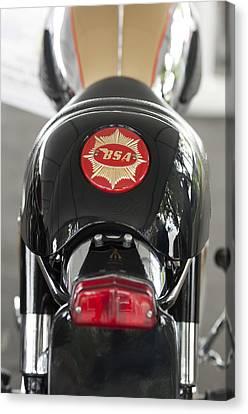 1966 Bsa 650 A-65 Spitfire Lightning Clubman Motorcycle Canvas Print by Jill Reger